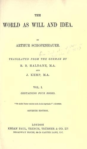 schopenhauer world will idea