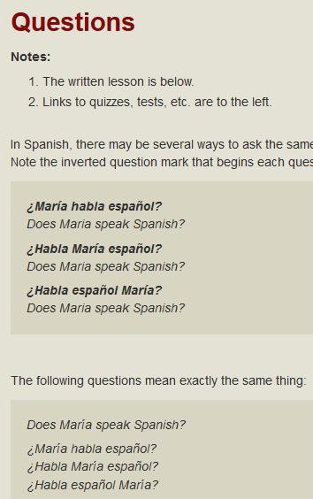 spanish questions boston